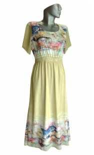 Дълга рокля за бременни 0528 шифон
