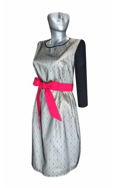 Официална рокля за бременни 053 с ръкав