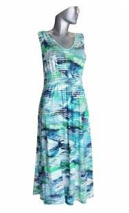 Дълга рокля за бременни 0513 щампа