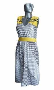 Официална рокля за бременни 0556 райе